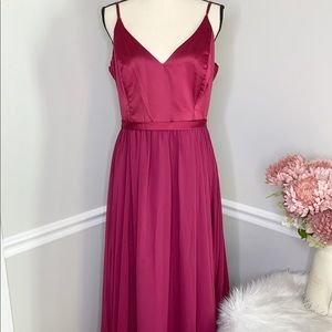 ALLURE BRIDESMAID Burgundy Formal Dress-size 20